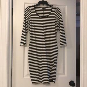 Black and white stripe dress - Express